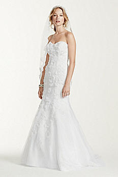 Jewel Tulle Over Satin Wedding Dress with Soutache WG3732