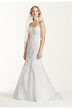 Jewel Tulle Over Satin Wedding Dress with Soutache WG3732