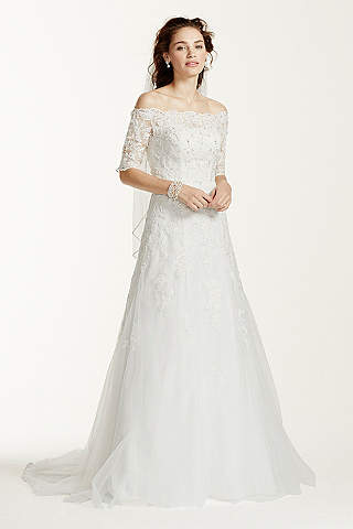 White A-line Wedding Dresses &amp Gowns  David&39s Bridal