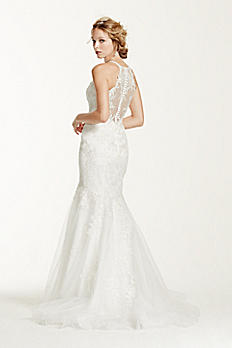 Jewel Petite Lace and Tulle Petite Wedding Dress 7WG3735