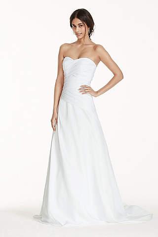 Long A Line Strapless Dress
