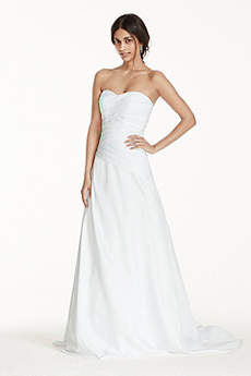 Long A-Line Strapless Dress -