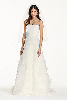 Strapless Aline Wedding Dress with Tiered Ruffles WG3744