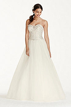 Jewel Tulle Wedding Dress with Crystal Detail WG3754