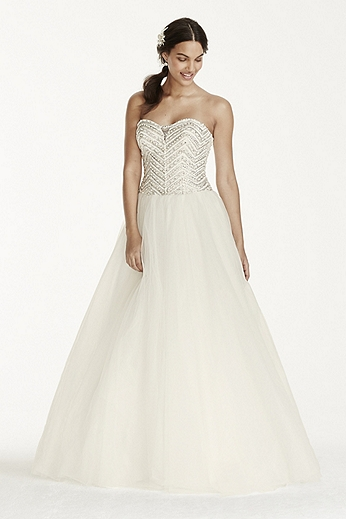Petite Tulle Ball Gown with Crystal Bodice 7WG3754