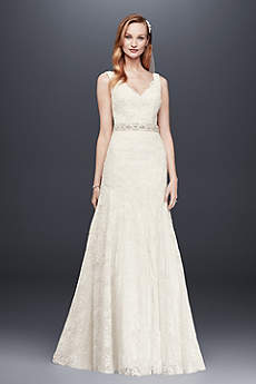 Long Mermaid/ Trumpet Country Wedding Dress - Jewel