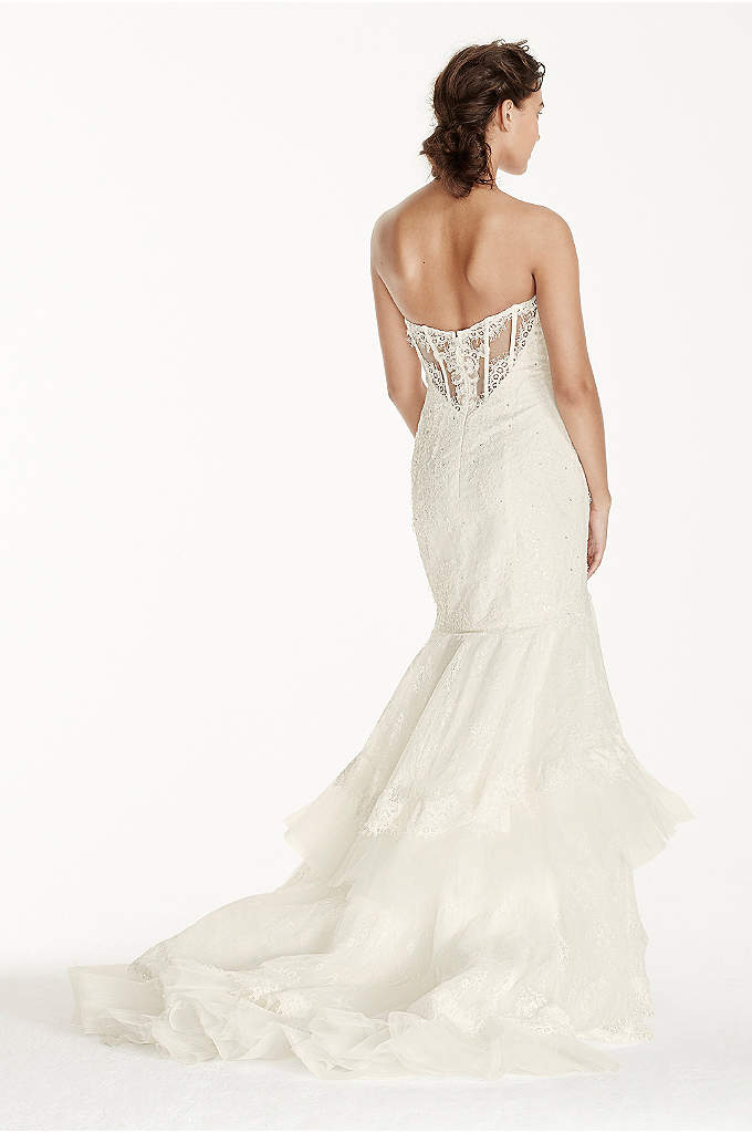 Melissa Sweet Long Sleeve V Back Wedding Dress Davids Bridal