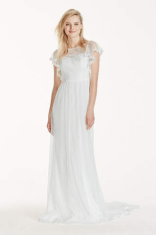 Wedding dresses under 200 davids bridal long sheath romantic wedding dress galina junglespirit Gallery
