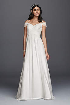 Long A-Line Beach Wedding Dress - Galina