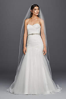 Long Mermaid/ Trumpet Strapless Dress - David's Bridal Collection