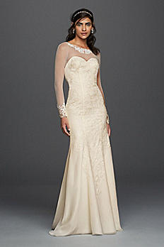 Long Sleeved Chiffon Wedding Dress WG3794