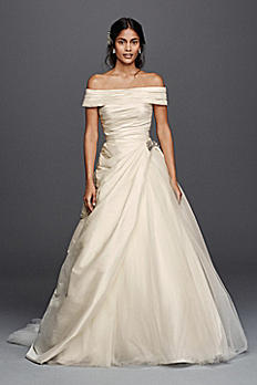 Jewel Taffeta Wedding Dress with Brooch WG3796