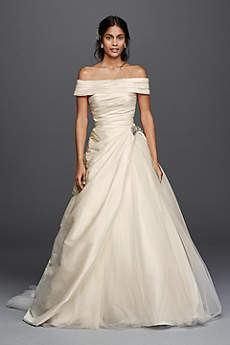 Long Ballgown Off the Shoulder Dress - Jewel