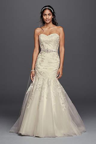 Jewel Lace Wedding Dress With Sweetheart Neckline