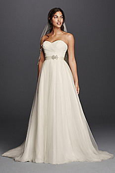 Strapless Sweetheart Tulle Wedding Dress WG3802
