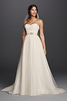 Strapless Sweetheart Tulle Wedding Dress WG3802