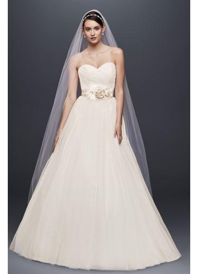 strapless sweetheart tulle wedding dress davids bridal