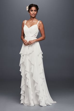 Superior Long Sheath Beach Wedding Dress   Galina Awesome Ideas