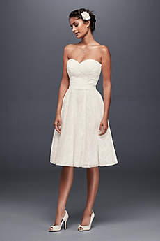 Short Sheath Beach Wedding Dress - Galina