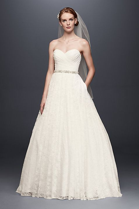 lace sweetheart wedding ball gown davids bridal