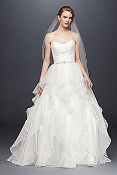 Lace and Organza Wedding Ball Gown with Beading WG3830