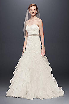 Organza Mermaid Wedding Dress with Ruffled Skirt WG3832