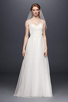 Long Sheath Spaghetti Strap Dress - David's Bridal Collection
