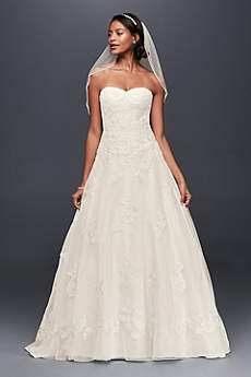 White A-line Wedding Dresses &amp- Gowns - David&-39-s Bridal