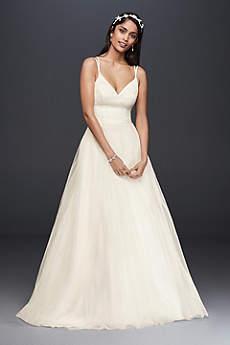 Long Ballgown Beach Wedding Dress - David's Bridal Collection