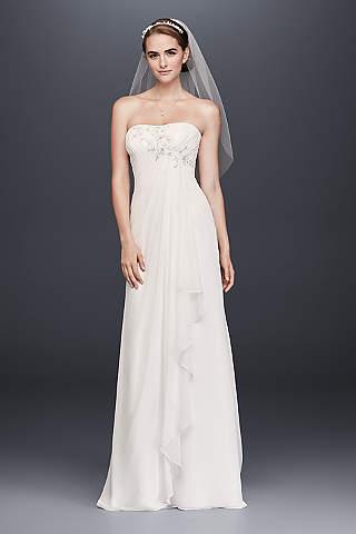 White linen bridal dresses