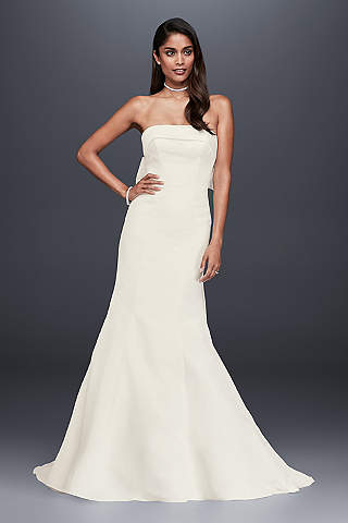 Petite wedding dresses gowns for petite women davids bridal long mermaid trumpet simple wedding dress davids bridal collection junglespirit Gallery