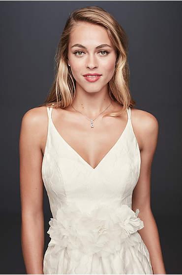 Floral Jacquard A-Line Wedding Dress