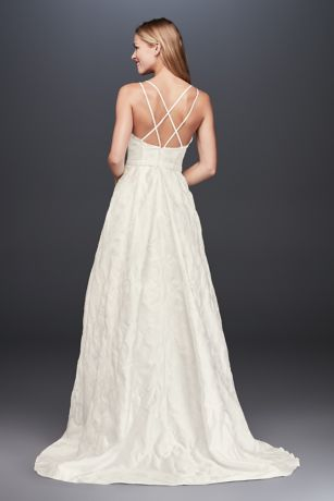 Floral Jacquard A-Line Wedding Dress | David's Bridal