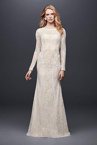 Latest wedding dresses 2018 new arrivals davids bridal long sheath country wedding dress galina junglespirit Image collections