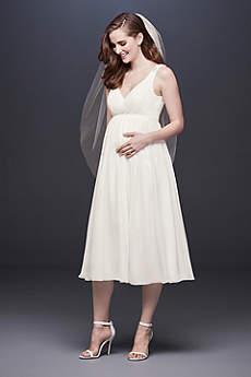 Short A-Line Beach Wedding Dress - David's Bridal Collection