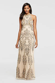 Long Mermaid/ Trumpet Halter Formal Dresses Dress - David's Bridal