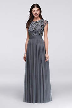 unique long dresses for mother of the bride
