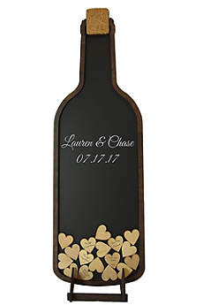 Personalized Wine Bottle Drop Heart Guest Book