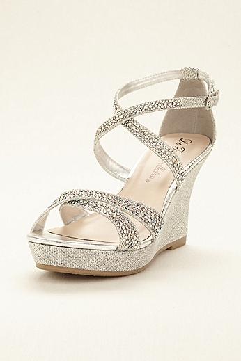 Crystal Cross Strap Wedge Sandal WINNI5A