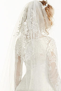 Embroidered Cathedral Length Veil WPD14215