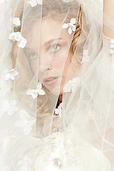 3D Scattered Floral Cathedral Veil WPD16286