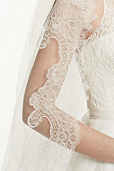 Cathedral Veil with Chantilly Lace Edge Design WPD16566