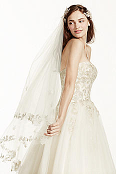 Two Tier Lace Edge Veil WPD17177