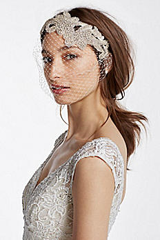 Embellished Crystal Blusher Veil WPD17923
