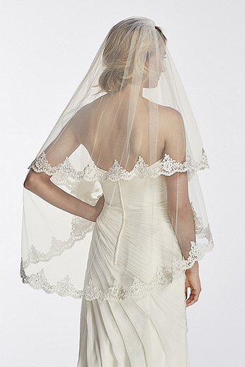 Two Tier Mid Length Embroidery Corded Lace Edge WPD17935