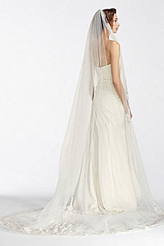One Tier Cathedral Sequin Embroidered Edge WPD17939