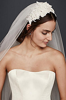 Chapel Veil with Embellished Headband WPD20255