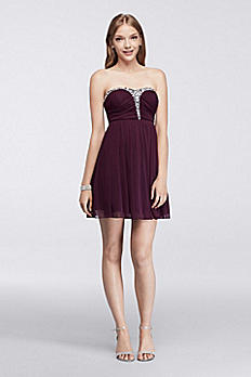 Strapless Homecoming Dress with Crystal Bodice X29781J33