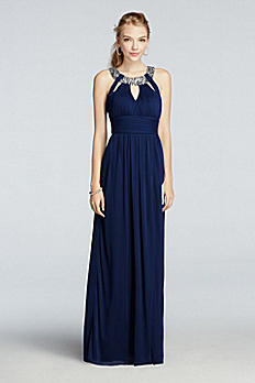 Crystal Beaded Halter Prom Dress with Cut Outs X30221J34D