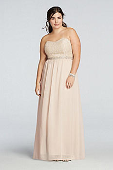 Strapless Chiffon Prom Dress with Beaded Sash X30421HVSW